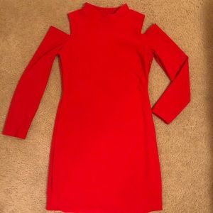 Red Express Long Sleeve Dress